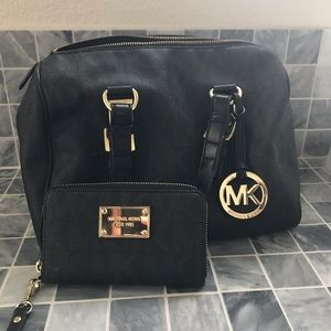 Michael Khors bag with small wallet - RELIST!